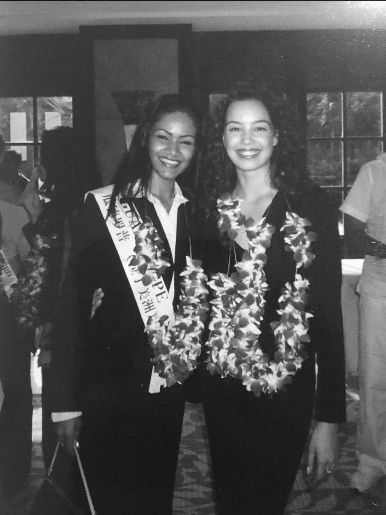 Lauranza Doliman et Azra Akin Miss World 2002