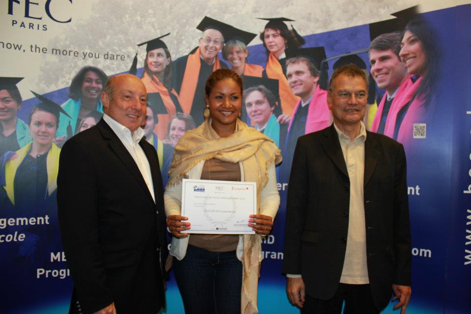 Certificat MANAGEMENT UDE HEC PARIS avec le DIRECTEUR Bernard RAMANANTOS
