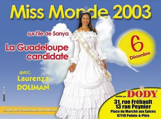 Lauranza DOLIMAN Miss Monde 2003 avec DODY