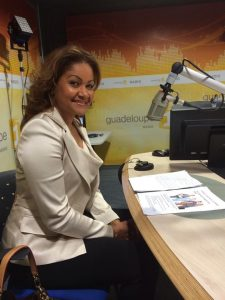 Lauranza Doliman invitée Guadeloupe 1ère radio avec Guylaine Conquet