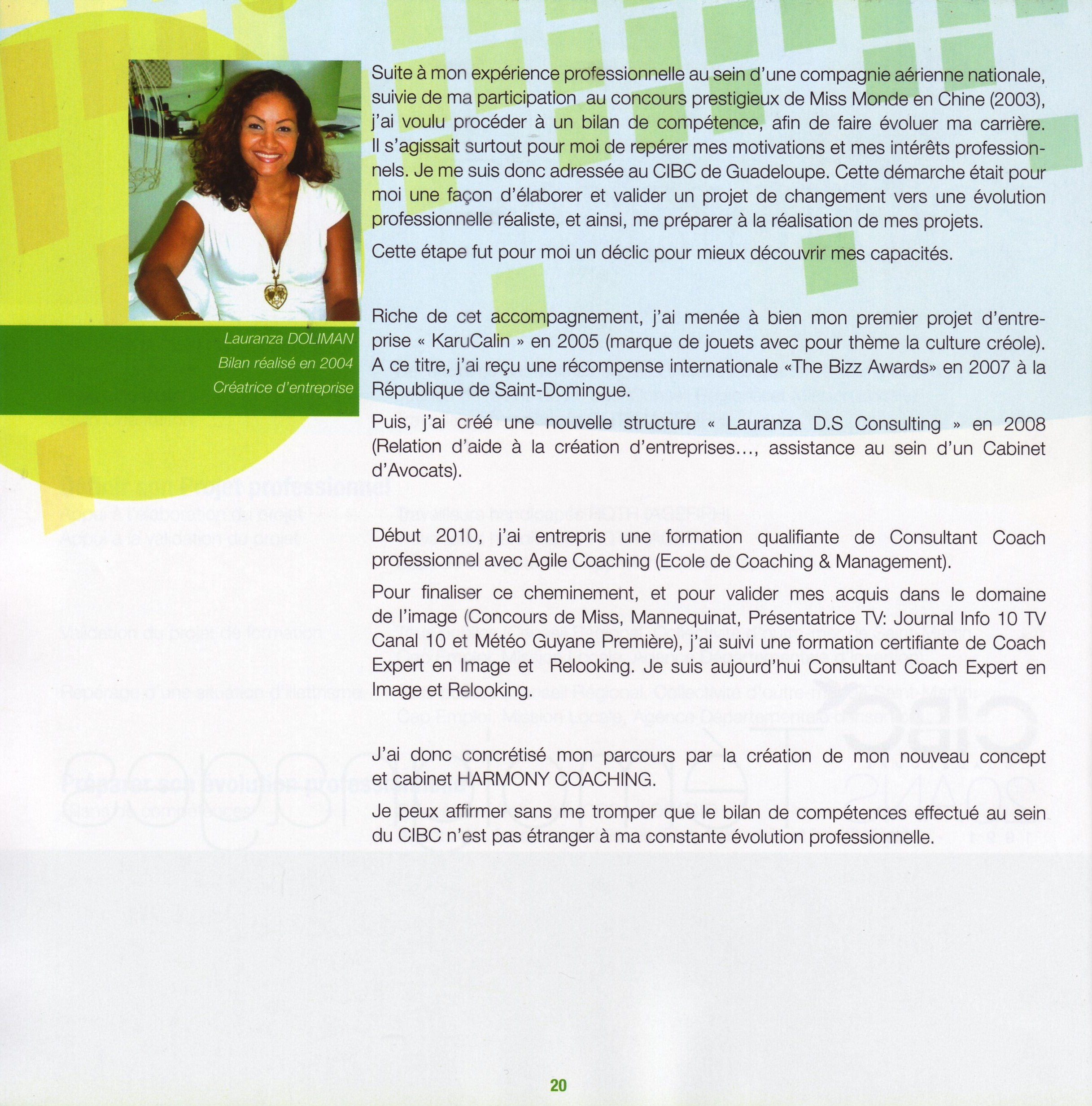 Témoignage Lauranza DOLIMAN CIBC 20 ans