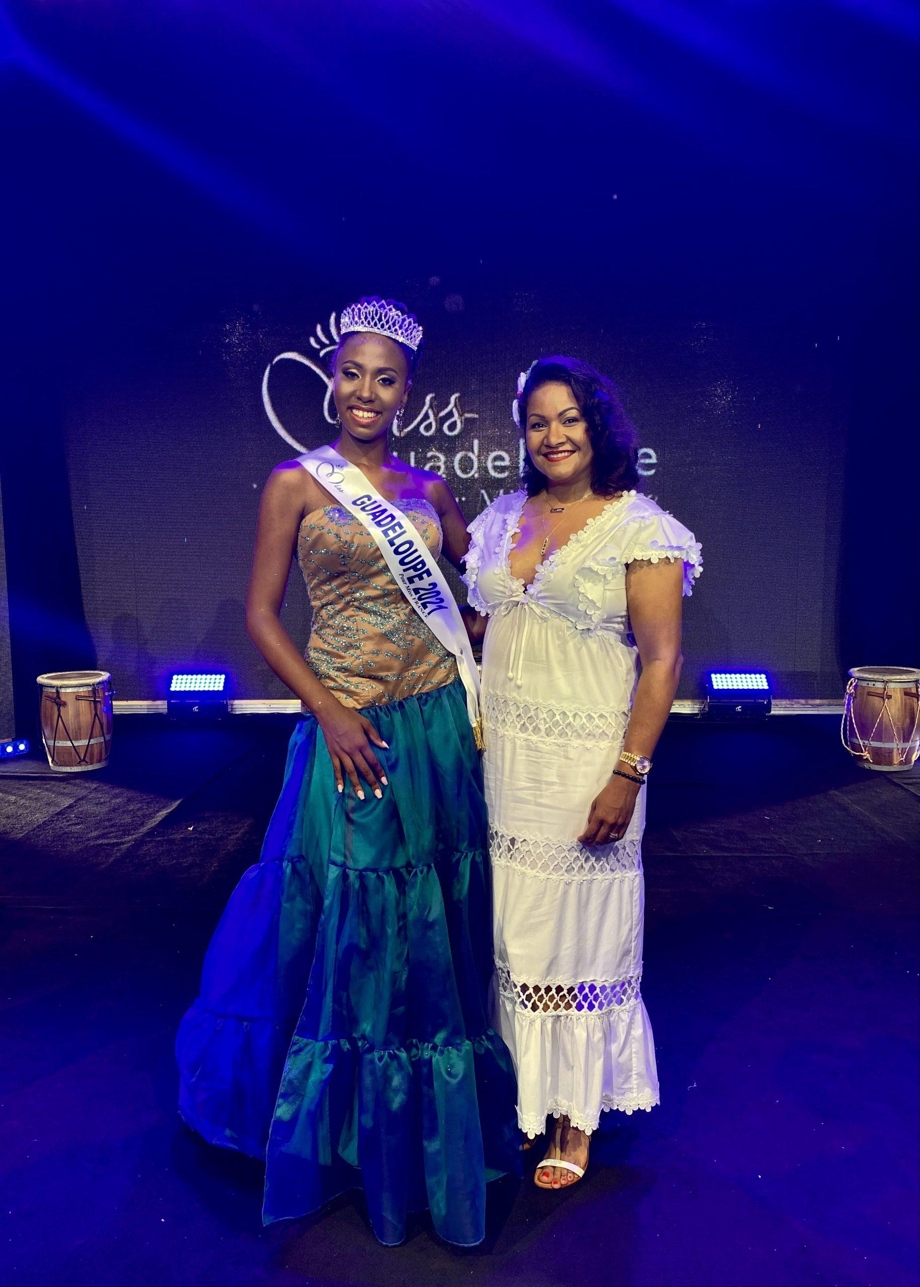 Ludivine EDMOND Miss Guadeloupe 2021 et Lauranza membre du jury